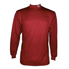 長袖 アンダーシャツ 濃赤紫